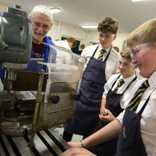 Pupils studying Chemistry at Thirsk School